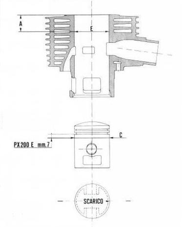 Bild 8: Darstellung eines PX 200 Zylinders aus einer englischsprachigen Bedienungsanleitung für die Modelle P125X, P150X & P200E.
