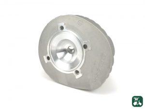 Zylinderkopf von Malossi mit integrierter Dichtung. Durchmesser 69 mm. Quetschkante ca. 0,9 - 1,0 mm. Geometrisches Verdichtungsverhältnis bei ca. 11,5 zu 1.