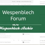 Wespenblech FAQ