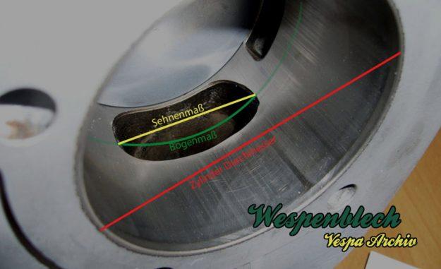 Sehnenmaß, Bogenmaß, Durchmesser, Zylinder, Malossi, 210