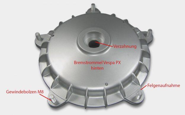 Bremstrommel hinten Vespa PX alt