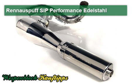 SIP, Performance, Rennauspuff, Vespa 200 ccm, Edelstahl, JL