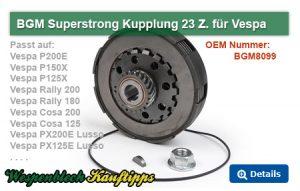 BGM Superstrong Kupplung 23 Zähne, Vespa PX, Vespa Rally
