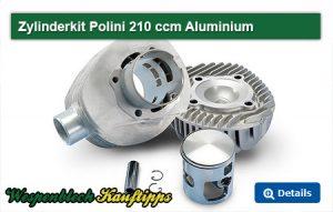 Zylinderkit, Polini 210 Alu, Aluminium, Verweis