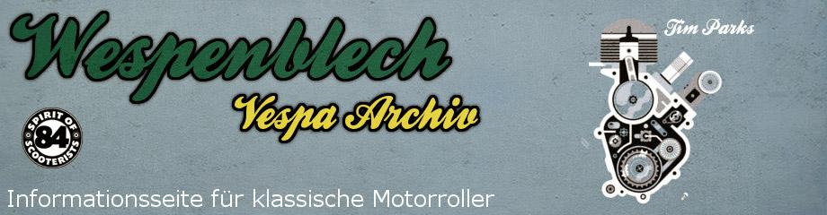 Wespenblech – Vespa Archiv