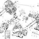 Explosionszeichnung: Vespa P200E Ersatzteile – Kurbelwelle & Kupplung