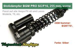 Stoßdämpfer, BGM, PRO, 255 mm, vorne
