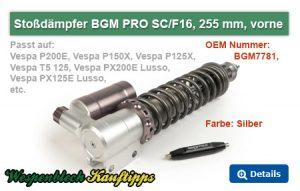 Largeframe Stoßdämpfer, BGM PRO, silber