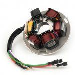 Zündgrundplatte Vespa PX alt (mit Batterie) 7 Kabel