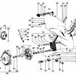 Explosionszeichnung & Ersatzteile für Gabel & Bremse vorne