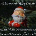 Frohe Weihnachten 2017 und einen Guten Rutsch ins Jahr 2018