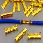 Messing Steckverbinder (Kabelschuhe) 100 Stück