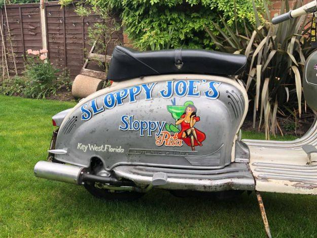 Ein weiteres Werk von Harry auf einer altehrwürdigen Lambretta. (Foto: Harry's Hotrod Shop)