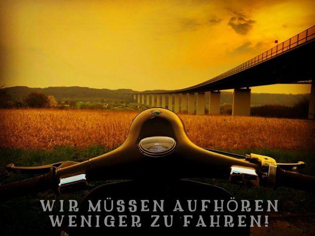 Slogan für das Anrollern in München 2020.